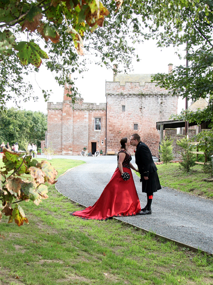 Unique wedding celebrations at Brackenhill Tower near Gretna Green