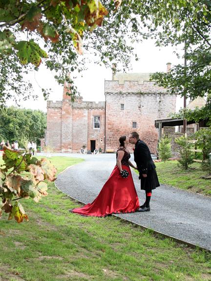 Unique wedding celebrations at Brackenhill Tower near Gretna Green
