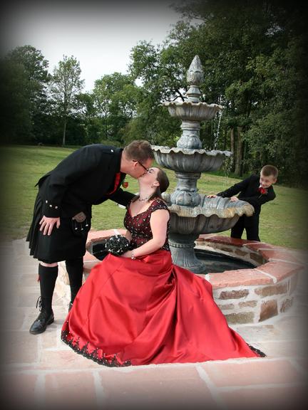 Romantic wedding celebrations at Brackenhill Tower near Gretna Green