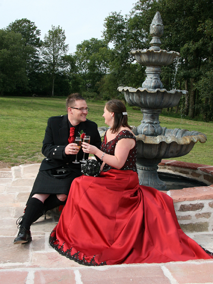 Romantic wedding celebrations at Brackenhill Tower near Gretna Green